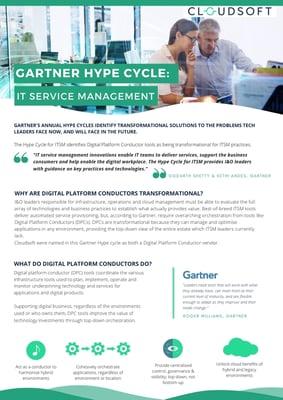 Gartner Hype Cycle - ITSM
