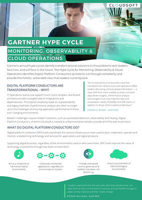 Gartner Hype Cycle - Monitoring, Observability, Cloud Operations - How DCPs close the gap