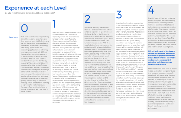Maturity model - experience at each level