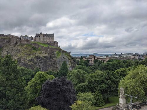 From Castle Terrace, to Castle views