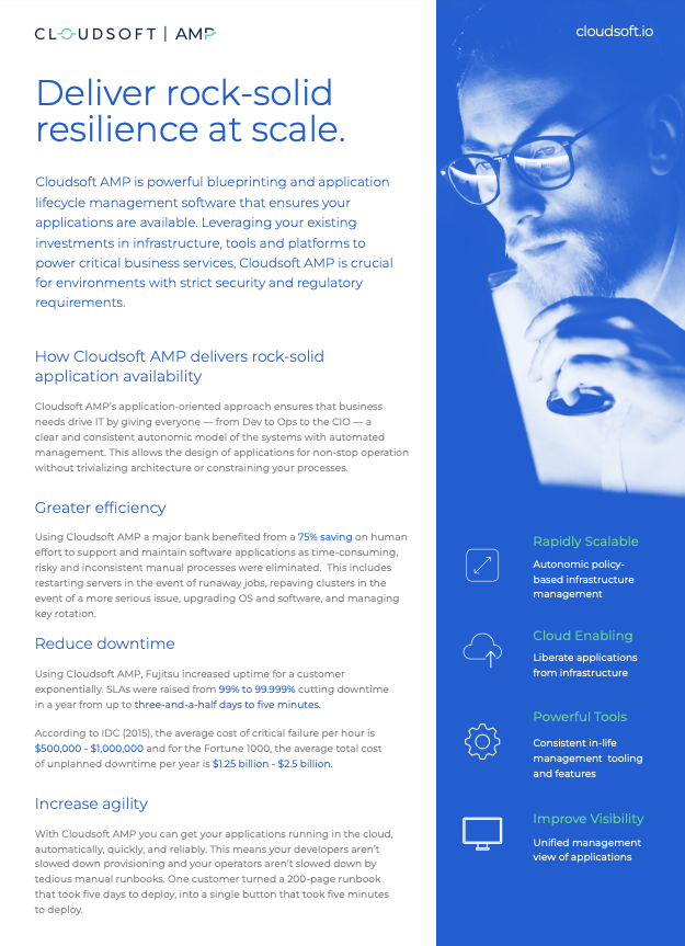 Cloudsoft AMP one-pager